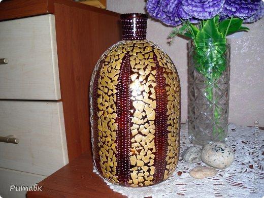 Декор с большой бутылкой
