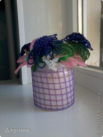 Мои бисерные цветочки фото 1
