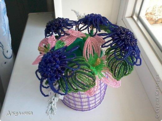 Мои бисерные цветочки фото 2