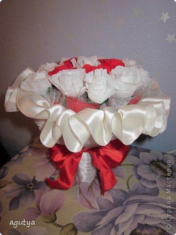 Свит-дизайн Свадьба Моделирование конструирование Дублер букета невесты из конфет Бумага гофрированная Ткань фото 3