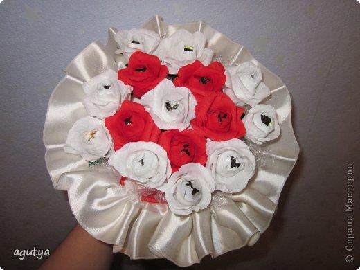 Свит-дизайн Свадьба Моделирование конструирование Дублер букета невесты из конфет Бумага гофрированная Ткань фото 1