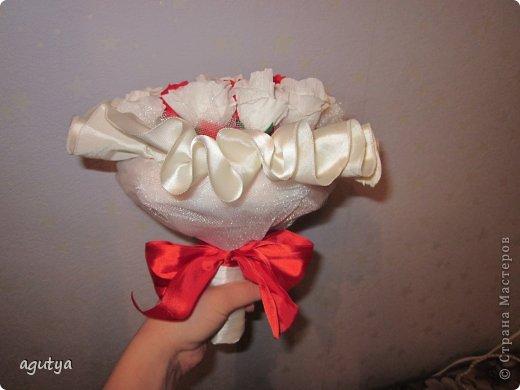 Свит-дизайн Свадьба Моделирование конструирование Дублер букета невесты из конфет Бумага гофрированная Ткань фото 5
