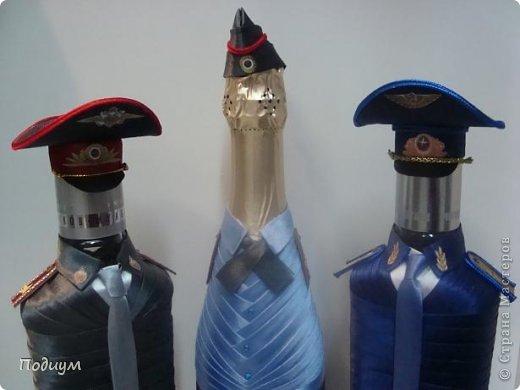 Оформление коньячных бутылок лентами мастер класс