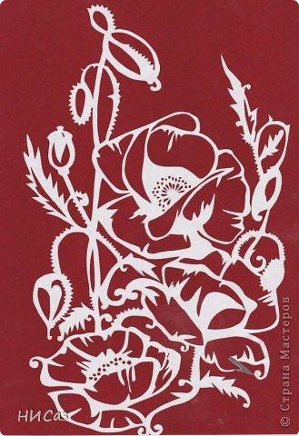Картина панно рисунок Вырезание Маки Бумага фото 2.
