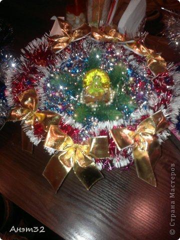 Новогодняя корзиночка маме в подарок. фото 1