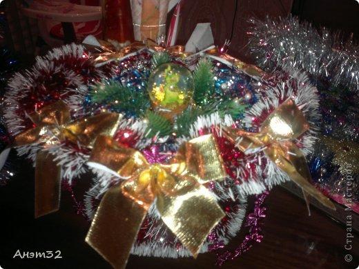 Новогодняя корзиночка маме в подарок. фото 2