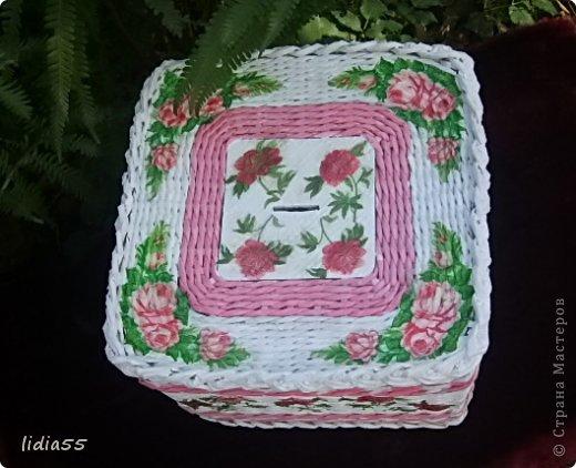 Мастер-класс Поделка изделие Плетение копилочка Бумага газетная Трубочки бумажные фото 2