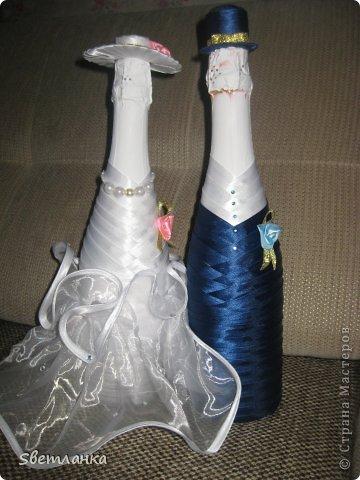 Мои первые бокалы. и так уже получилось что они на мою свадьбу.  Прошу оценить фото 8
