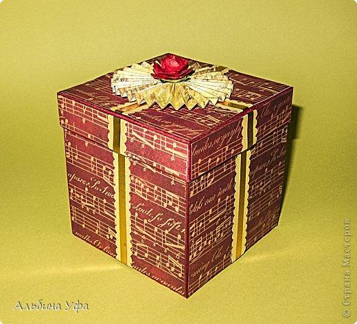 Скрапбукинг Упаковка 8 марта День рождения Свадьба Ассамбляж Подарочная коробочка Бумага Картон Клей Нитки Скотч фото 1