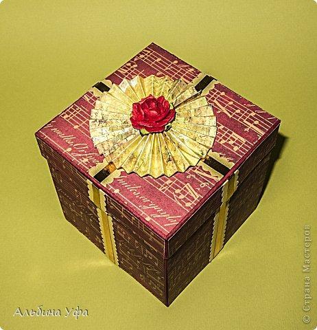 Скрапбукинг Упаковка 8 марта День рождения Свадьба Ассамбляж Подарочная коробочка Бумага Картон Клей Нитки Скотч фото 2