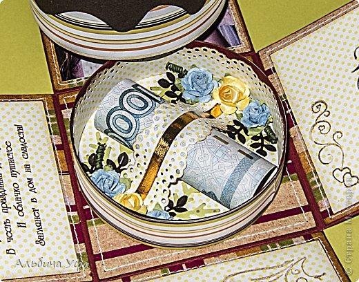 Скрапбукинг Упаковка 8 марта День рождения Свадьба Ассамбляж Подарочная коробочка Бумага Картон Клей Нитки Скотч фото 6