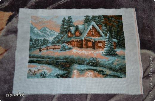 крестом Зимний пейзаж