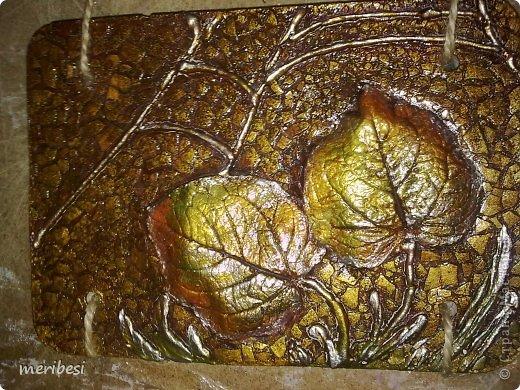 Картина панно рисунок Поделка изделие Праздник осени Лепка Гипсовое панно и маленькие чудеса в моей жизни Гипс Гуашь Скорлупа яичная Тесьма шнур фото 8