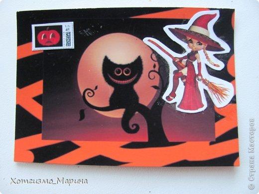 Ведьмочки-метлы-тыковки... Вот такие карточки АТС мне навеял предстоящий праздник Хэллоуин - канун Дня всех святых))) фото 3