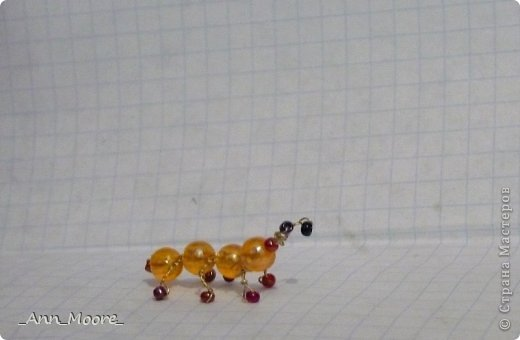 Поделка изделие Бисероплетение муравей Бисер Бусинки Проволока фото 2.
