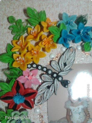 Картина панно рисунок Квиллинг Парад цветов Бумага фото 3.