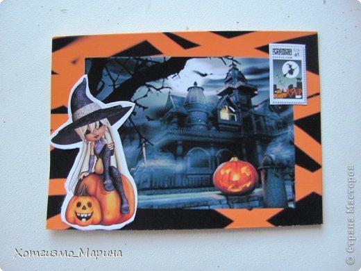 Ведьмочки-метлы-тыковки... Вот такие карточки АТС мне навеял предстоящий праздник Хэллоуин - канун Дня всех святых))) фото 4