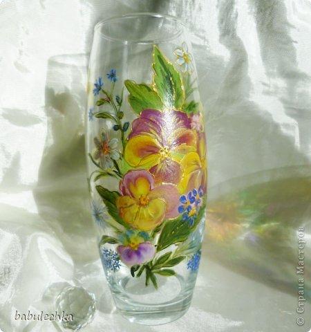 25июня2012года оять взялась за эту вазу  и внесла коррективы в цвет лепестков  и листьев. фото 5