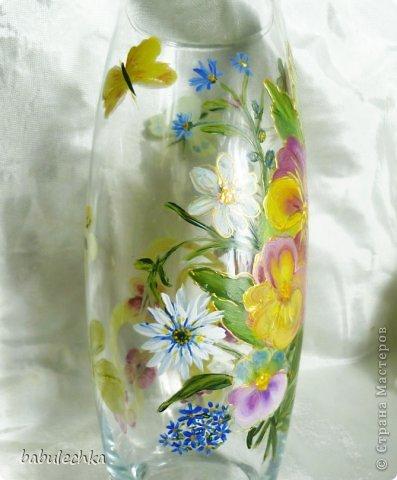 25июня2012года оять взялась за эту вазу  и внесла коррективы в цвет лепестков  и листьев. фото 9