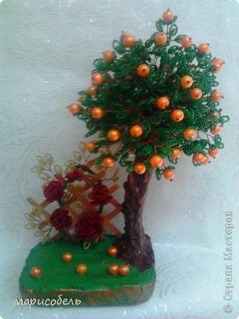 Дерево из бисера -