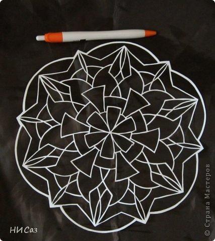Картина панно рисунок Вырезание Мандалы Бумага фото 4.