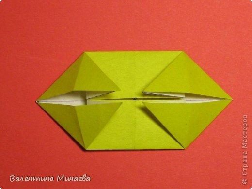Кусудама Магнит (Magnet)  автор - Валентина Минаева (Valentina Minayeva) 30 модулей размер бумаги: 10 х 10 см, итог - 12 см без клея, бумагу необходимо брать ПЛОТНУЮ, которая хорошо держит складку! фото 13