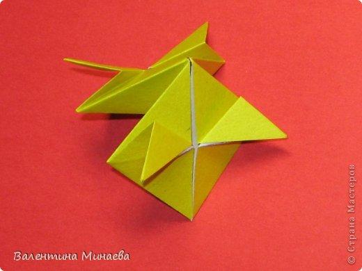 Кусудама Магнит (Magnet)  автор - Валентина Минаева (Valentina Minayeva) 30 модулей размер бумаги: 10 х 10 см, итог - 12 см без клея, бумагу необходимо брать ПЛОТНУЮ, которая хорошо держит складку! фото 18