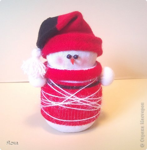 Дед мороз из носка своими руками