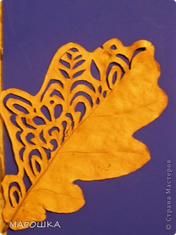 проба вырезания по осенним листьям как-то мимоходом вышла...смотрела что с дошколятами из листиков можно сделать - наткнулась на дюрановские листья - его лист кленовый, как у Дадашовой из треугольников рисунок...как делается роспись по листьям не поняла, а попробовать вырезать захотелось...  фото 6