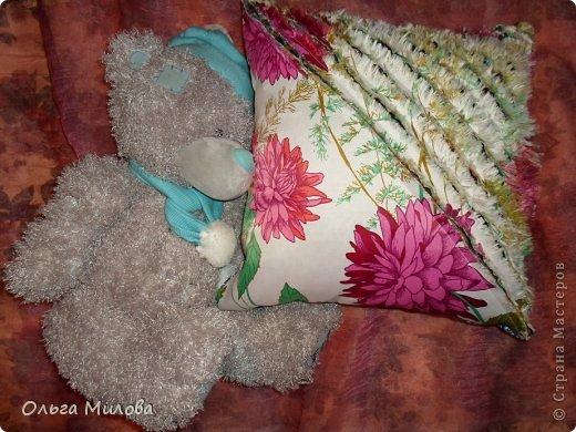 """Сегодня я хочу предложить вам сшить подушечку в технике """"синель"""" фото 1"""