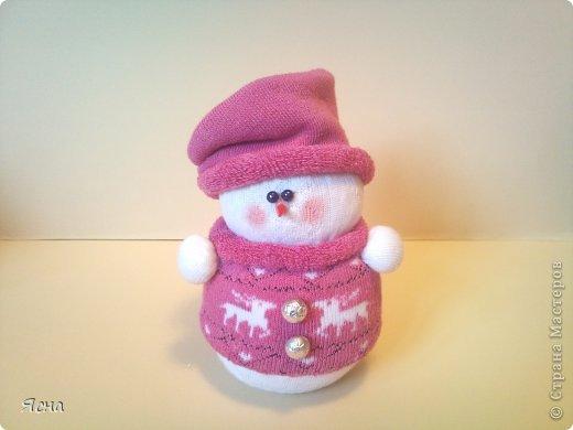 Поделка своими руками-снеговик