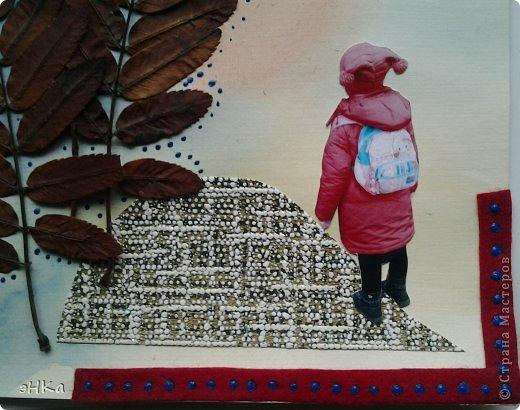 """Задание N1. Кленовые листья, акварель, фото, обои, цв. бумага, акриловый контур, фетр. Название """" К. И. Чуковский. Айболит"""" фото 5"""