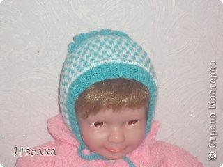 вязаные шапочки спицами для новорожденных