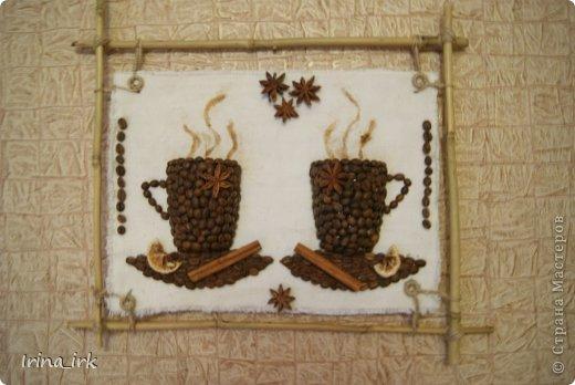 Панно из кофейных зерен для кухни своими руками фото