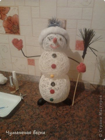 Как сделать снеговика из поролона своими руками