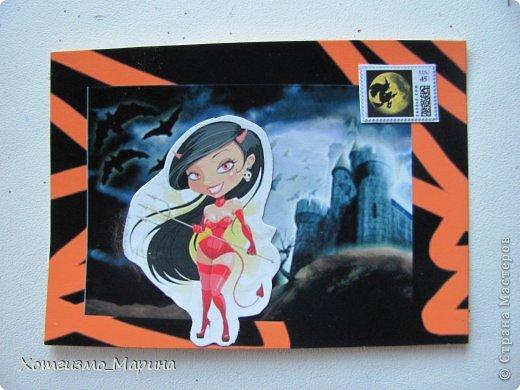 Ведьмочки-метлы-тыковки... Вот такие карточки АТС мне навеял предстоящий праздник Хэллоуин - канун Дня всех святых))) фото 6