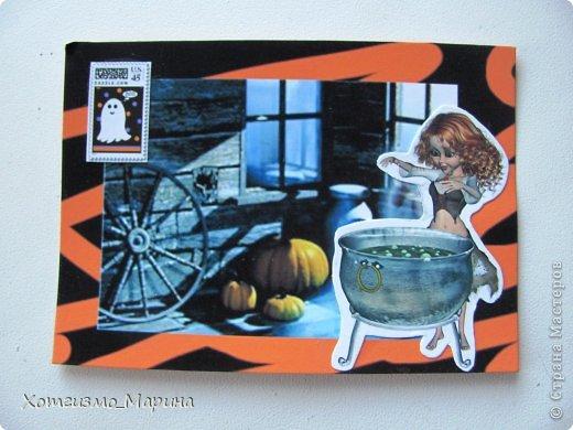 Ведьмочки-метлы-тыковки... Вот такие карточки АТС мне навеял предстоящий праздник Хэллоуин - канун Дня всех святых))) фото 5
