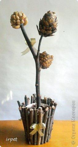 Попросили сделать поделки детям в школу. Покопавшись в СМ, нашла отличный мастер-класс Татьяны Просняковой https://stranamasterov.ru/techno/pistachio_tree. Вот, что у меня получилось:
