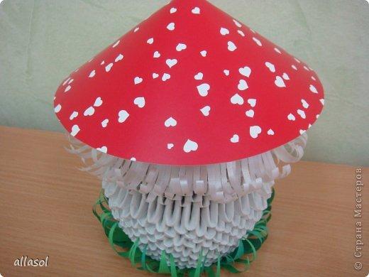 Модульное оригами - Мухомор-1.