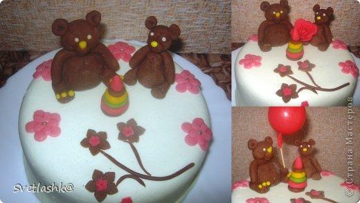 Кулинария Свит-дизайн День рождения Лепка Детские тортики Продукты пищевые фото 4
