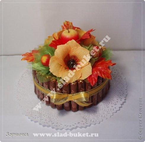 Осенний мини торт