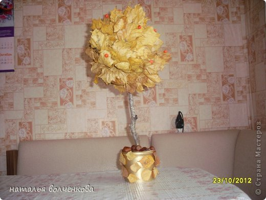 топиарий из салфеток,это деревце я сделала только благодоря вашему сайту и мастер классам рукодельниц!!! фото 5