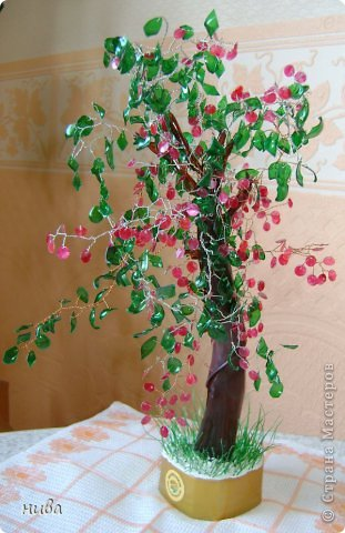 Райские яблочки и розы из пластиковых бутылок фото 1