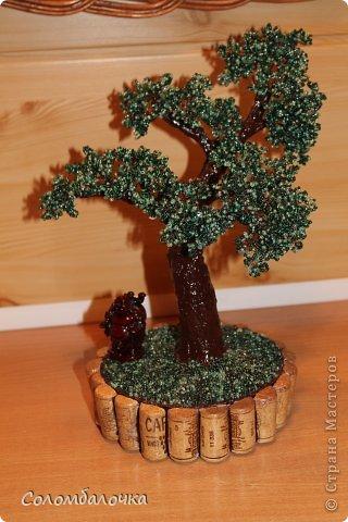 Декор предметов Бисероплетение Деревья и цветы из бисера Бисер Гипс Проволока фото 3.