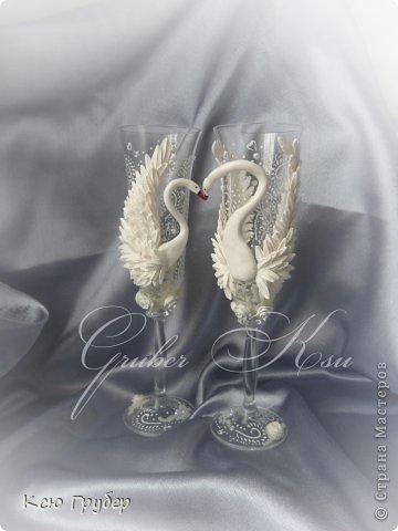 Лебеди свадебные бокалы
