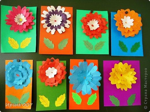 Поделки из цветной бумаги  к дню матери 2