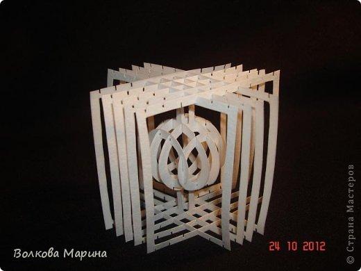 и шар в кубе Бумага фото 4