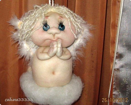 Ангел из капроновых колготок своими руками