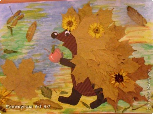 Осенняя картина из круп своими руками