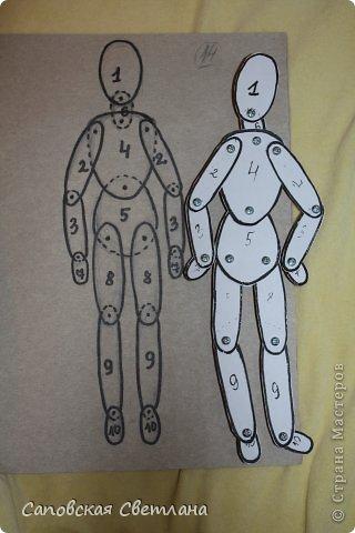 Шаблон человека для рисования.